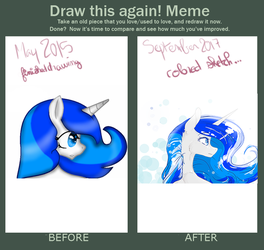 [DRAW THIS AGAIN! MEME] 2015 VS 2017 by PonetteDeFeu