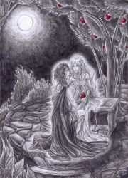 Hades and Persephone by Sorelliena