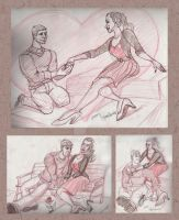 Valentines Storyboard FigureDrawing by Stnk13