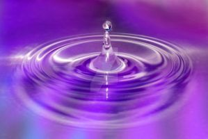 purple blue pink water drop by photographybypixie