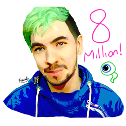 Jacksepticeye 8 Million Subscribers by meerkat--love