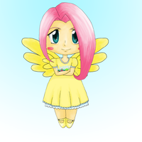 MLP: Fluttershy Chibi by KittyBelle01