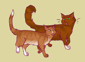 Sparkpelt and Squirrelflight by navichill