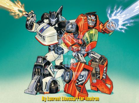 Jazz and Turbo by a-loft-on-cybertron