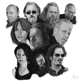 Sons of Anarchy Fanart by daFlow