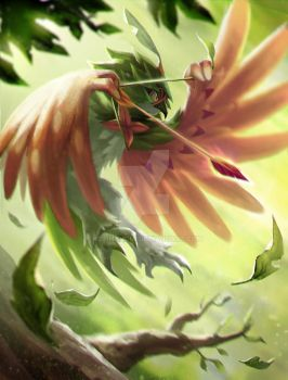 Decidueye - Rowlet offical final evolution by KeiNhanGia