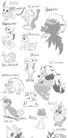 Favorite Pokemon Doodles