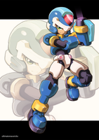 Megaman Model X by ultimatemaverickx