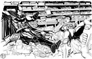 Super-Clerks - INKS by Theamat