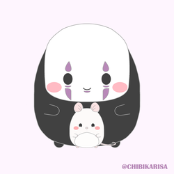 Studio Chibli: No Face and the mouse by ChibiKarisa