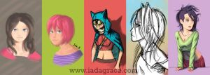 Galaxy Note 2 Sketches Collection 1 by IsiacDaGraca