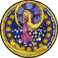 Stained Glass: Rapunzel -Remastered- by Akili-Amethyst