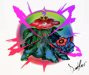 Mega Venusaur (commission) by MacabreMenagerie