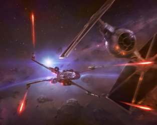 Star Wars - Ancient Rivals - Red Two by TheFirstAngel