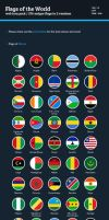 Flags of the World - Flat Icons Bundle by BlinVarfi