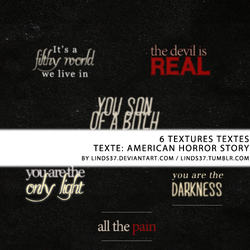 Textures text - AHS by Linds37