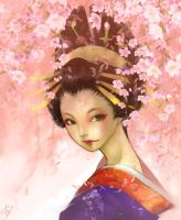 Oiran 'weeping cherry version' by pu