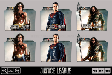 Justice League (2017) Charas Folder Icon Pack #2 by Bl4CKSL4YER