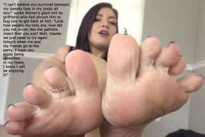 Slave To Ex's Sweaty Feet by youranus32
