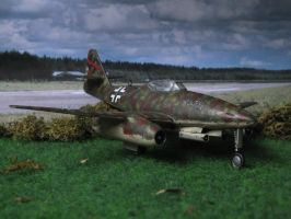 Me 262 at the airfield by Baryonyx62