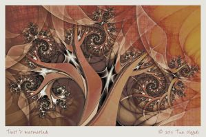 Toast and Marmarlade by aartika-fractal-art