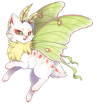 {Unapproved} Luna Moth-cat by Viidoll