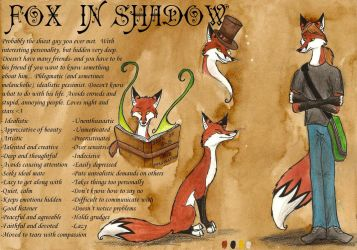 My new reference sheet by FoxInShadow