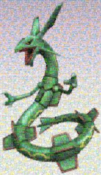 Rayquaza mosaic by LostBoy789