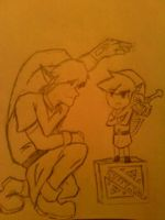 Big Link and Toon Link by Fluffyisawolf