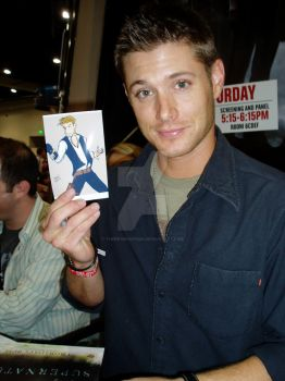 JENSEN WITH MY ART by There1sNoSp00n