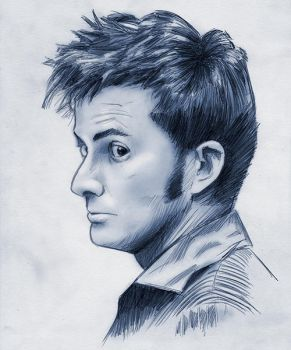 10th Doctor Who David Tennant by baslergrafik