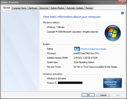 Windows 7 System Properties by Vishal-Gupta