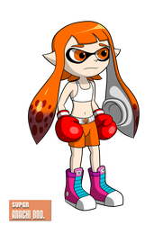 Collab: Inkling Girl Boxer by SuperAbachiBro