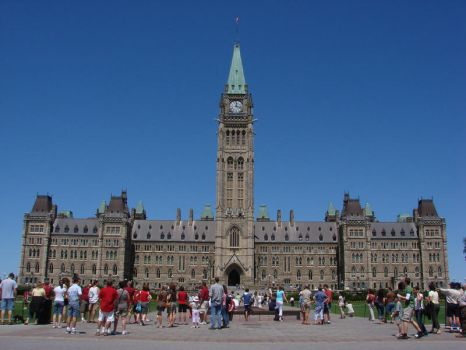 Ottawa Parlament and Tourists by LucasChavez3