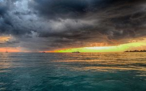 Jamaica Sunset Boat No. 2 (HDR) by skywalkerdesign