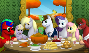 Commission: Thanksgiving for Tailsthehero by Shrineheart