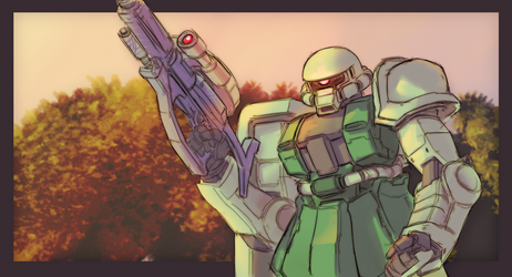 Zaku II by StrictlyMecha