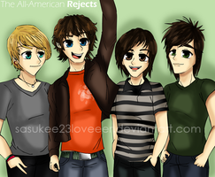 The All-American Rejects by sasukee23loveeer