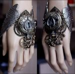 Winged watch cuff by Pinkabsinthe