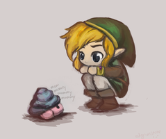 Baby Maiamai and Link by redgrimstone