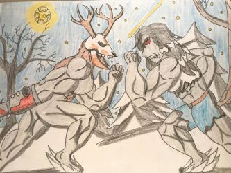 Skraker the wendeergo vs The berserker by Tobbe-Totte