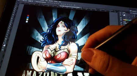 wip 3 wonder woman finish - Amazonian Princess :) by alemaglia