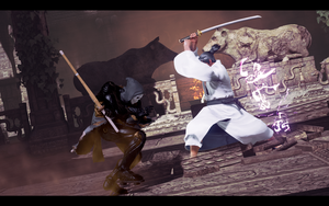 Samurai Jack fighting by LarsJunFan