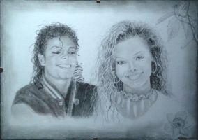 Michael and Janet Jackson by Janet94xD