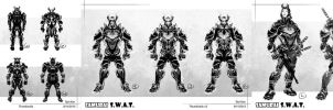 Samurai S.W.A.T. - design process by TedKimArt
