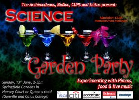 Scisoc poster: Garden Party by nunt