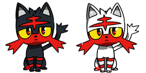 Pokemon #725 - Litten by Fyreglyphs