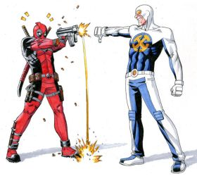 Deadpool vs Gravity by ReillyBrown