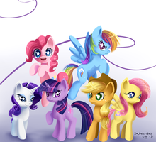 Mane 6 by Incinerater