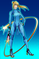 Veteran - Zero Suit Samus by AndrewMartinD